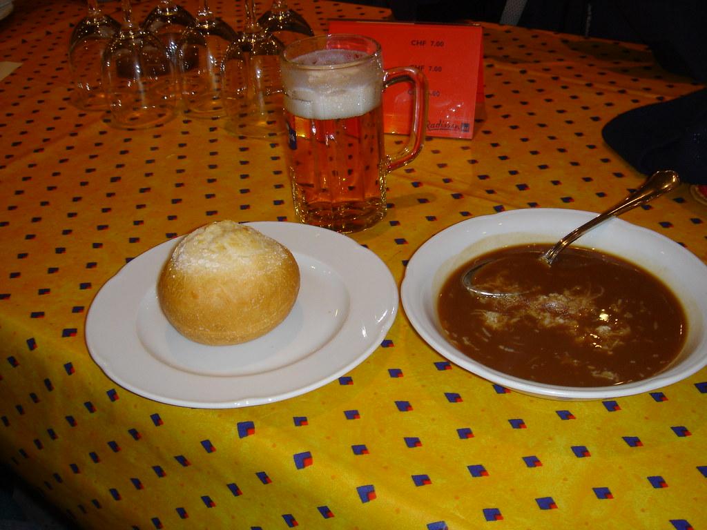Basel Style Roasted Flour Soup,  Swiss food, Switzerland food, Swiss cuisine, Swiss dishes, Switzerland traditional food
