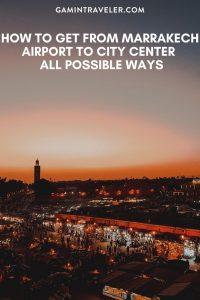 Marrakech airport to city center, Marrakech airport to city, How To Get From Marrakech Airport To City Center
