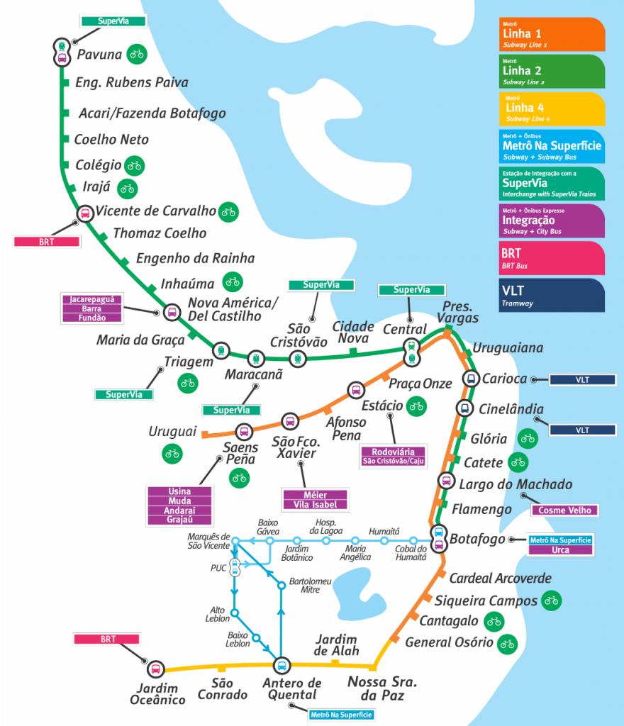 Metro Map Rio Janeiro, Rio de Janeiro airport to city center, Rio de Janeiro airport to city, How To Get From Rio de Janeiro Airport To City Center