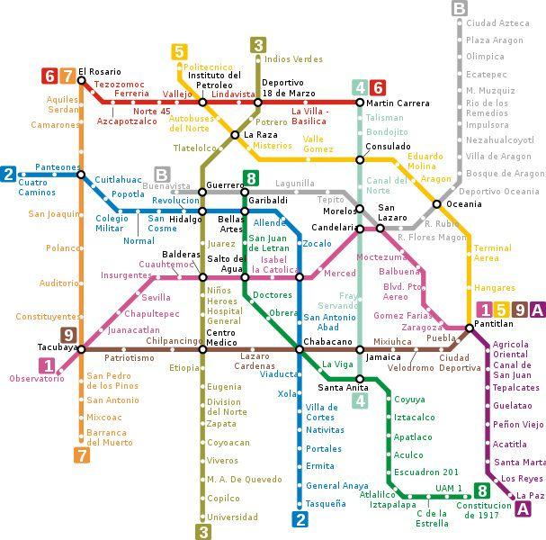 Mexico City Metro Map, Mexico City airport to city center, Mexico City airport to city, How To Get From Mexico City Airport To City Center