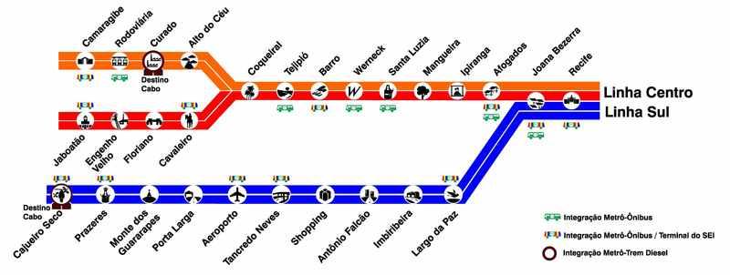 Recife Metro Map, Recife airport to city center, Recife airport to city, How To Get From Recife Airport To City Center
