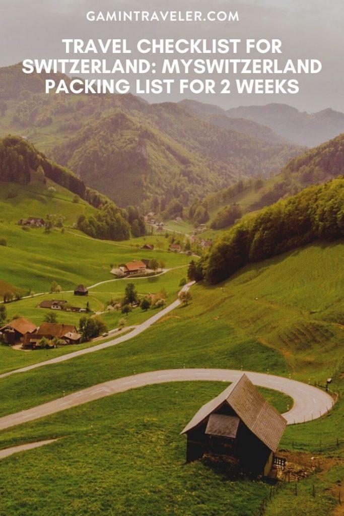 switzerland packing list, travel checklist for switzerland
