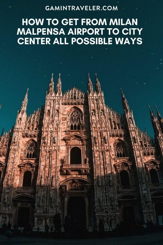 Milan Malpensa airport to city, Milan Malpensa airport to city center, How To Get From Milan Malpensa Airport To City Center