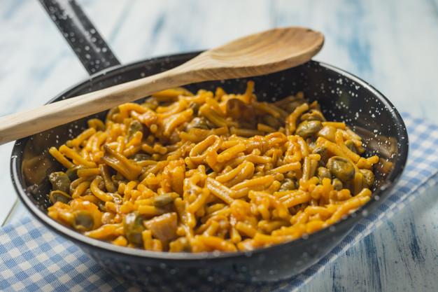 ibiza food, traditional food in ibiza, food to try in Ibiza, Traditional Dishes in Ibiza, dishes in ibiza, Fideua