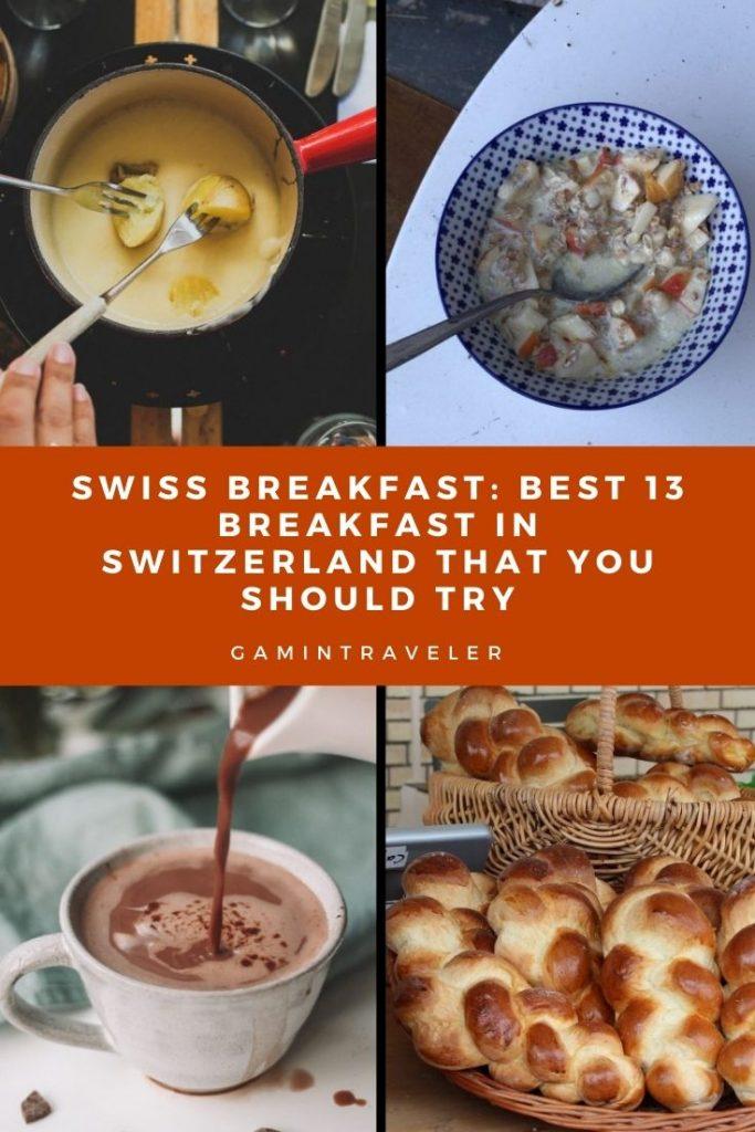 swiss breakfast, breakfast in Switzerland