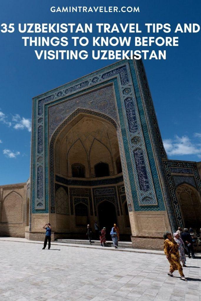Uzbekistan travel tips, things to know before visiting Uzbekistan, facts about Uzbekistan