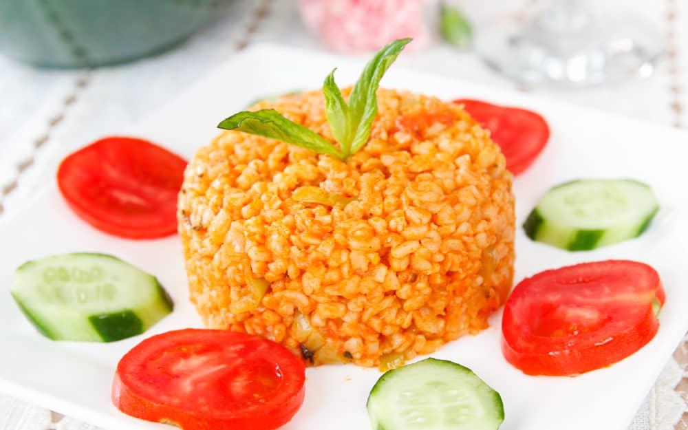 vegetarian food in Cyprus, vegan food in Cyprus, Vegetarian Dishes In Cyprus, vegan dishes in Cyprus, Bulgur Pilavi