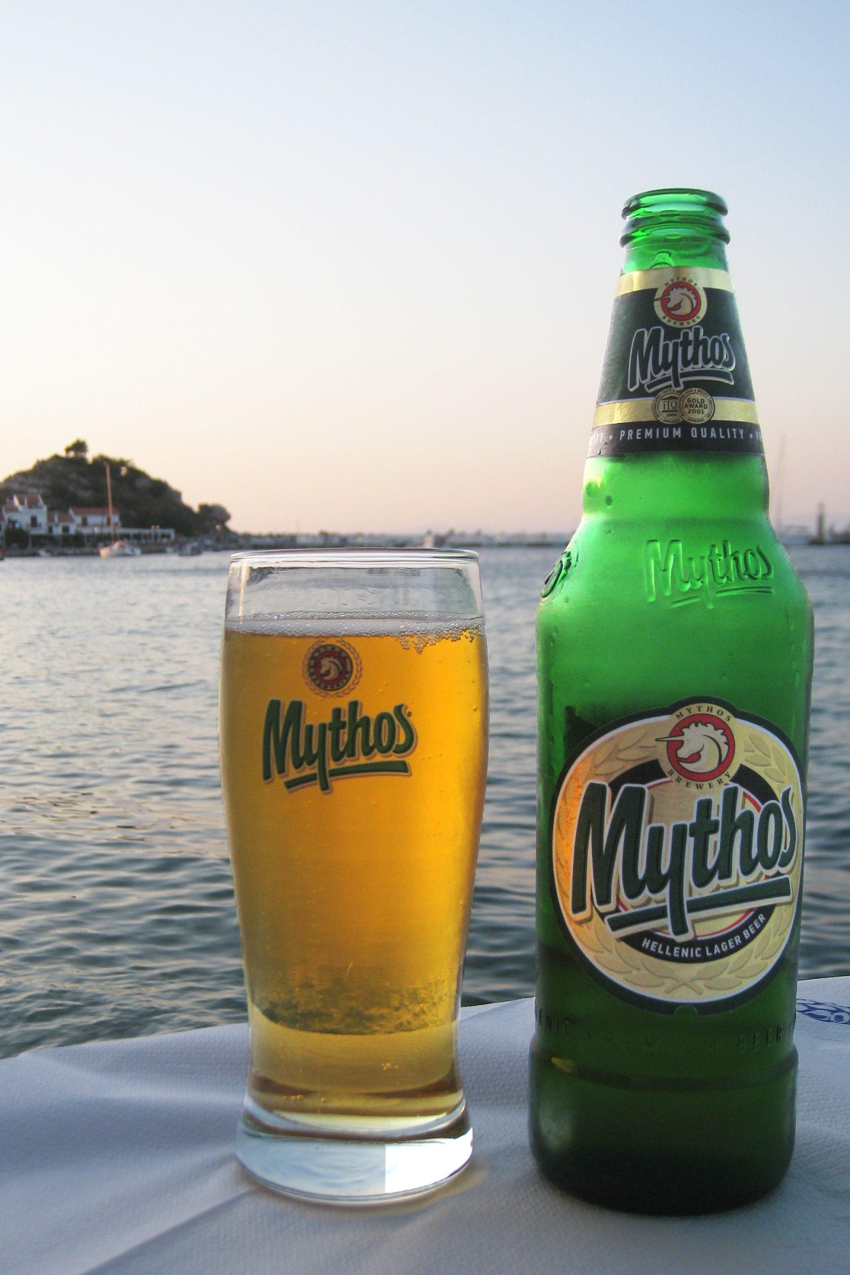 Greek drinks, drinks in Greece, Greek Beverages, beers in Greece, Mythos Beer