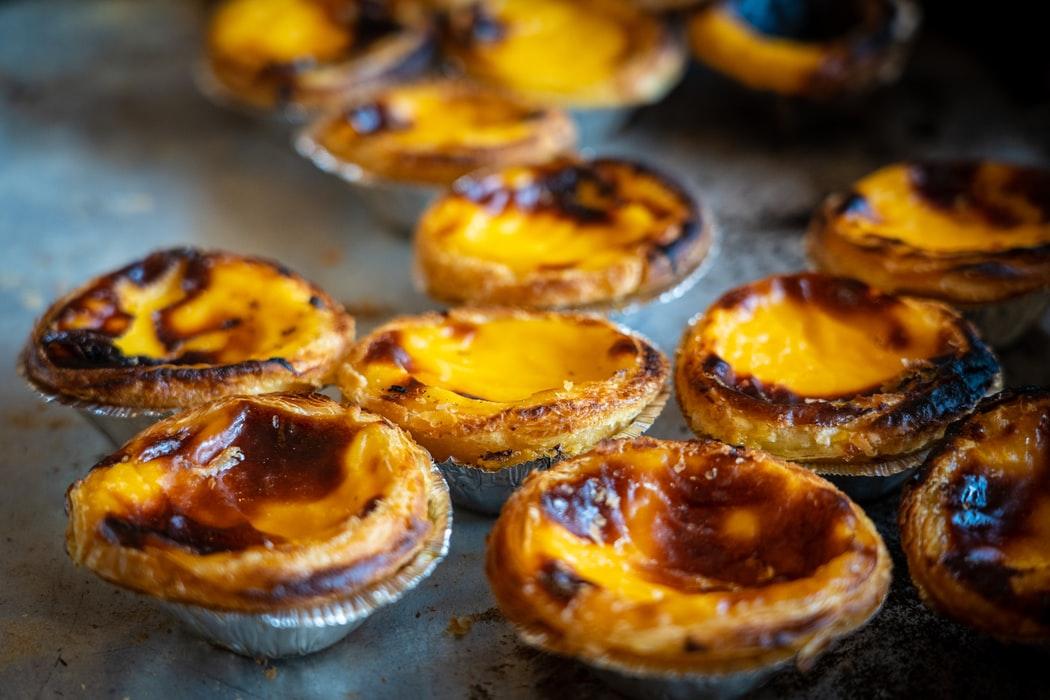 PASTEL DE NATA, Portuguese Food, Portuguese cuisine, traditional Portuguese food, food in Portugal, Portuguese dishes