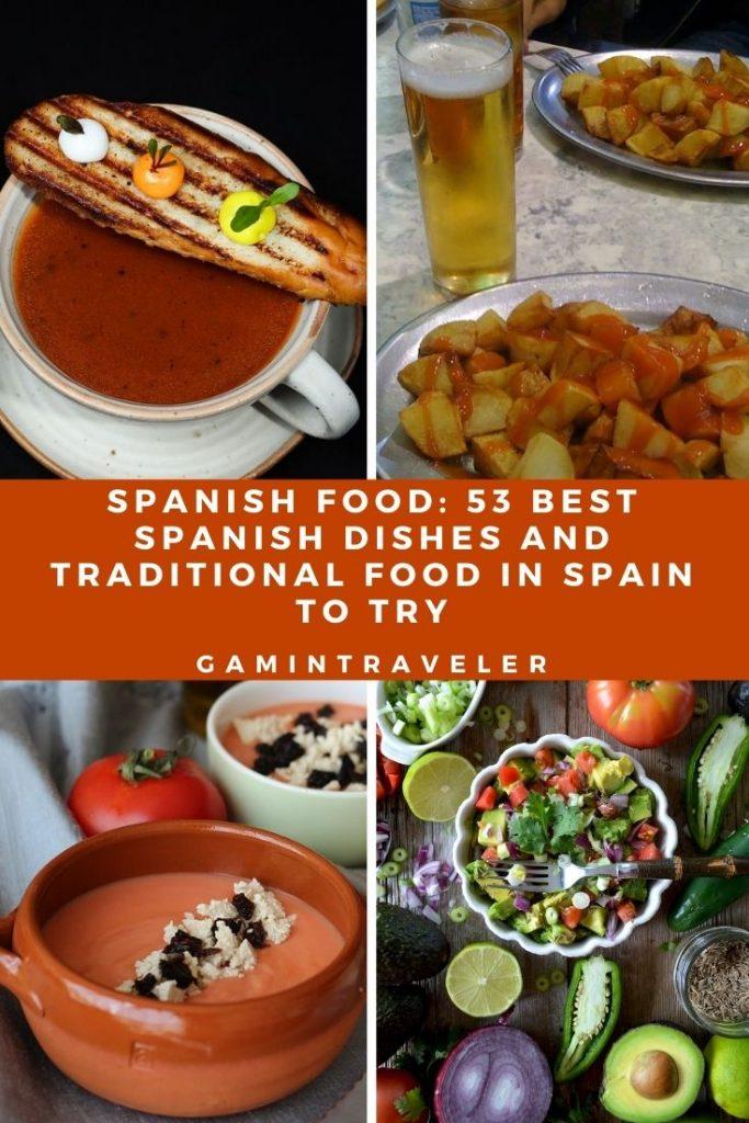 Spanish Food, spanish cuisine, traditional spanish food, food in Spain, Spanish dishes