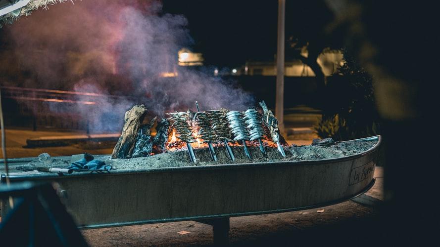 Espetos sardinas, Spanish Food, spanish cuisine, traditional spanish food, food in Spain, Spanish dishes