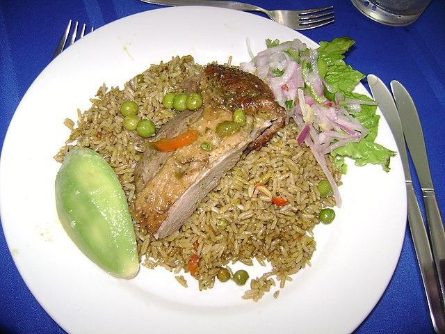 Peruvian Food, Peruvian cuisine, Traditional Peruvian Food, food in Peru, Peruvian dishes, Arroz con Pato