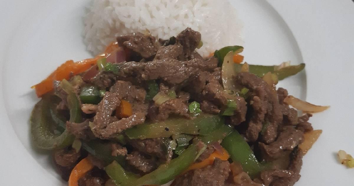 Bistec Picado, Panamanian Food, Panamanian cuisine, Traditional Panamanian Food, food in Panama, Panamanian dishes