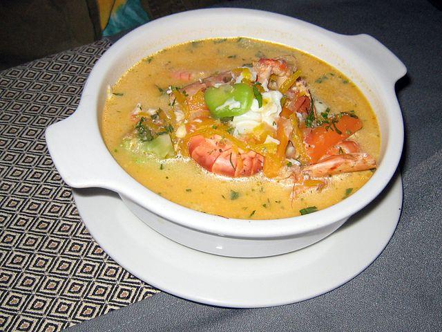 Peruvian Food, Peruvian cuisine, Traditional Peruvian Food, food in Peru, Peruvian dishes, Chupe de camarones